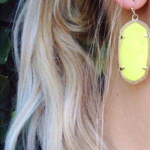 Kendra Scott Yellow & Gold Elle Earrings